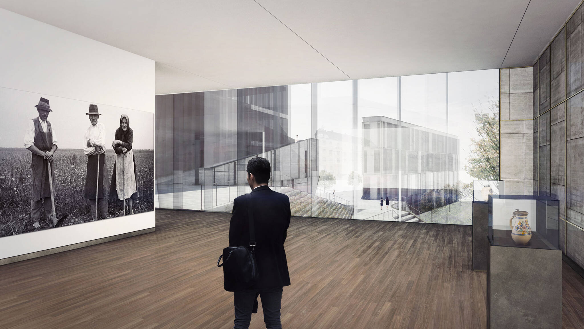Exhibition hall of the Museum of Etnography project located in Budapest, Hungary designed by the architecture studio Danny Forster & Architecture
