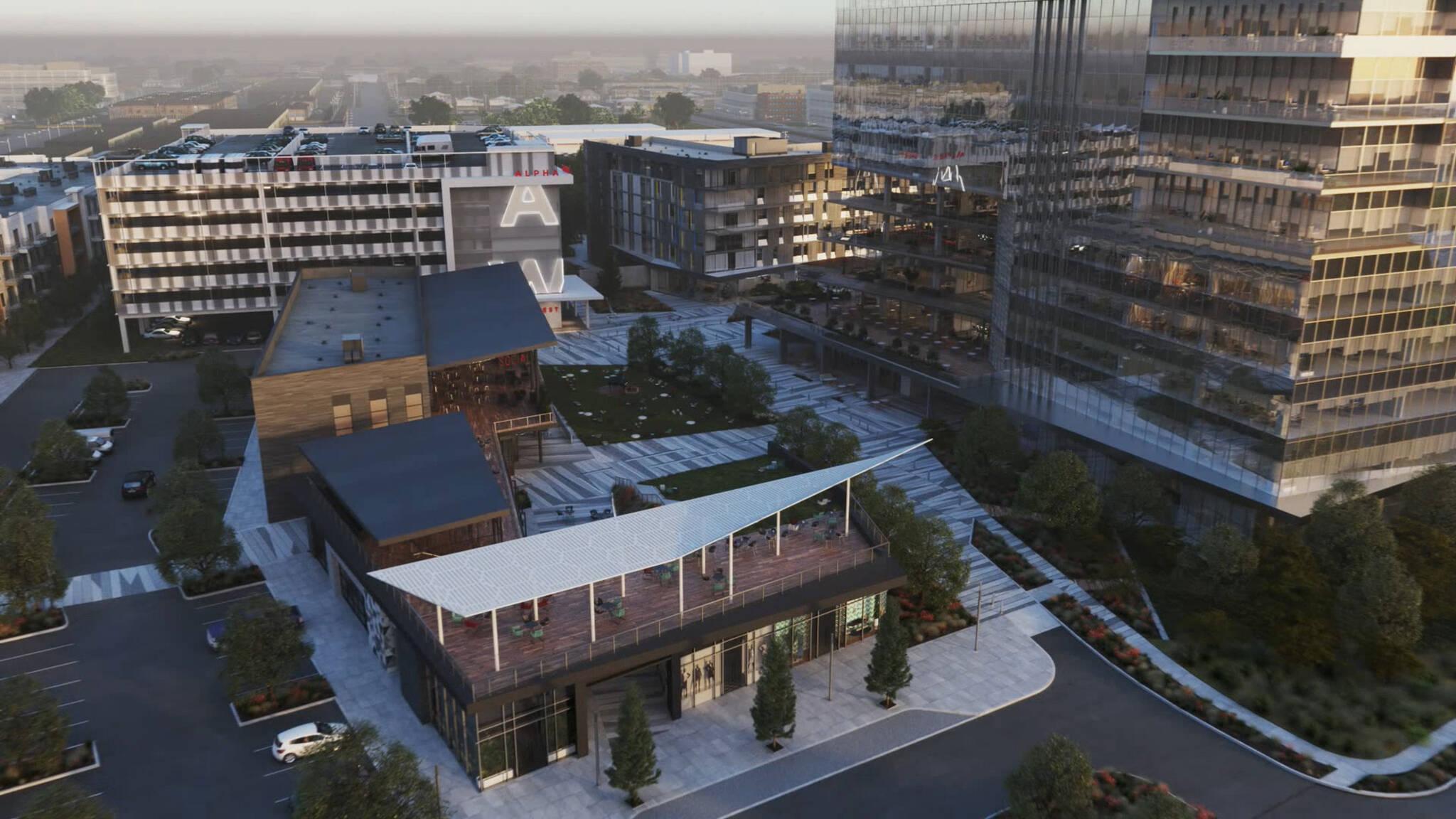Dallas Alpha West mixed-use complex project located in Dallas, Texas designed by the architecture studio Danny Forster & Architecture