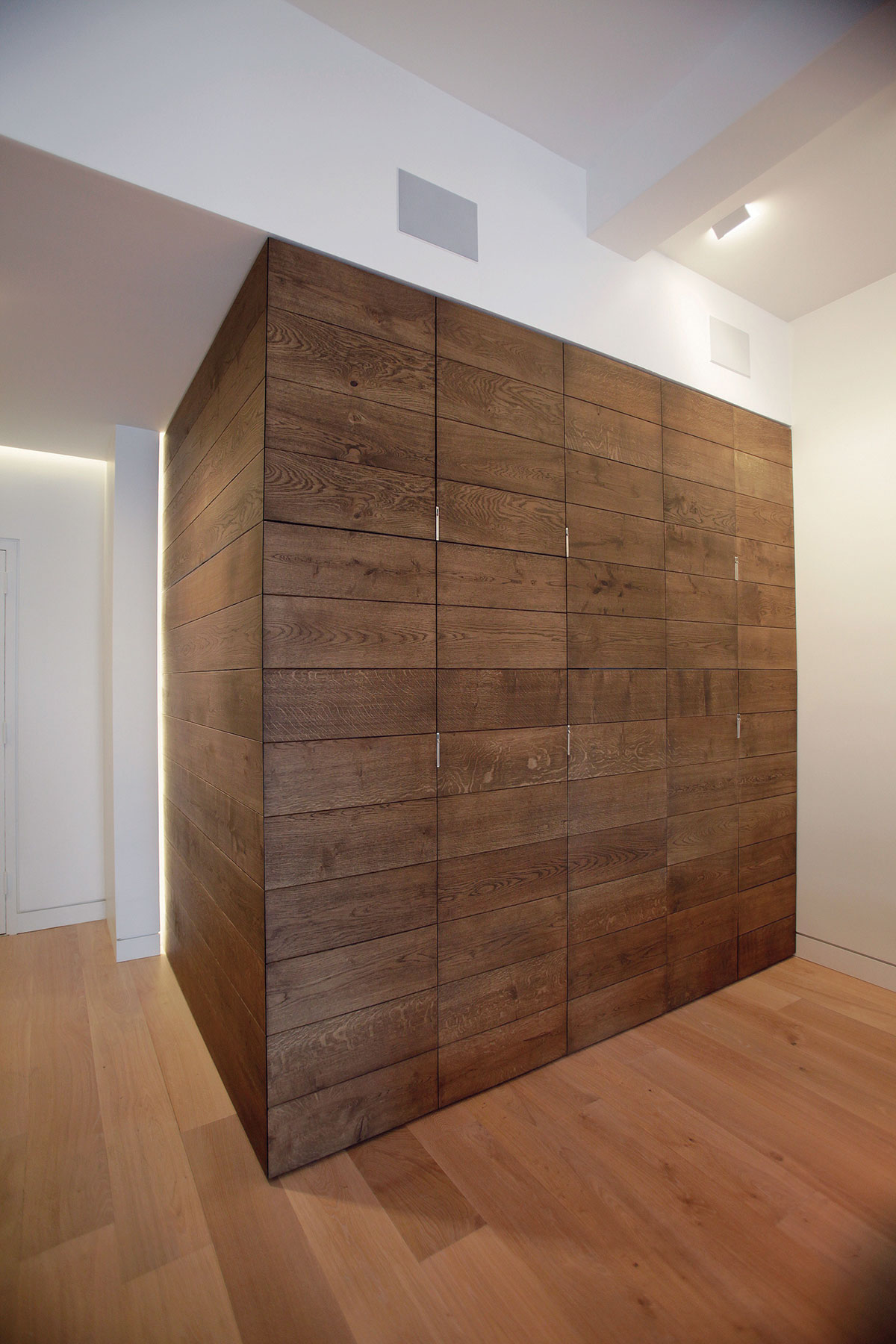 Closet of the residence renovation project in the Chelsea Mews building on the Flatiron District in Manhattan, New York City designed by the architecture studio Danny Forster & Architecture