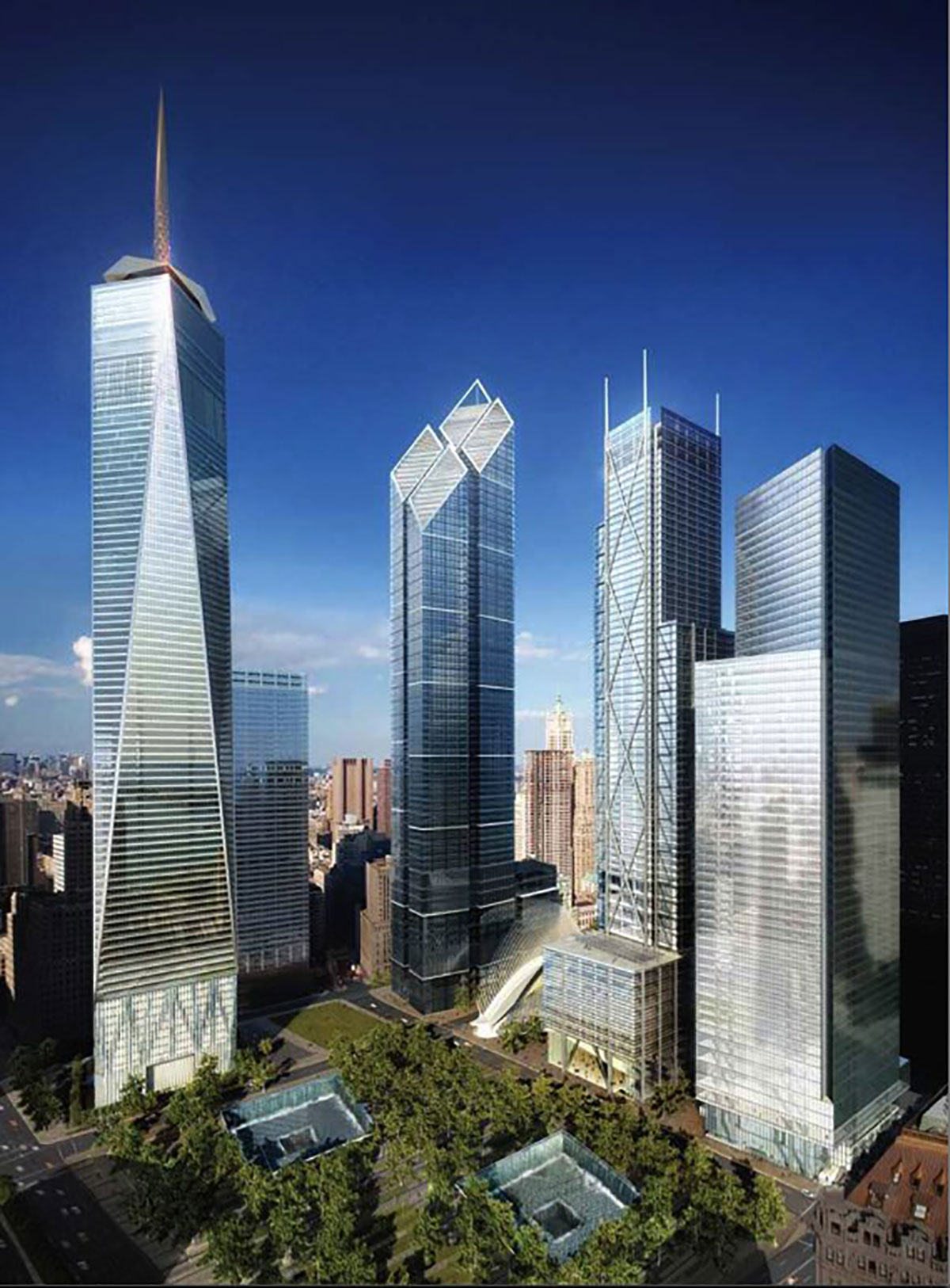 Aerial view of the rebuilding project on Ground Zero for the Rising: Rebuilding Ground Zero documentary Co-produced by Danny Forster and Steven Spielberg about the rebuilding of the World Trade Center site in the wake of 9/11.