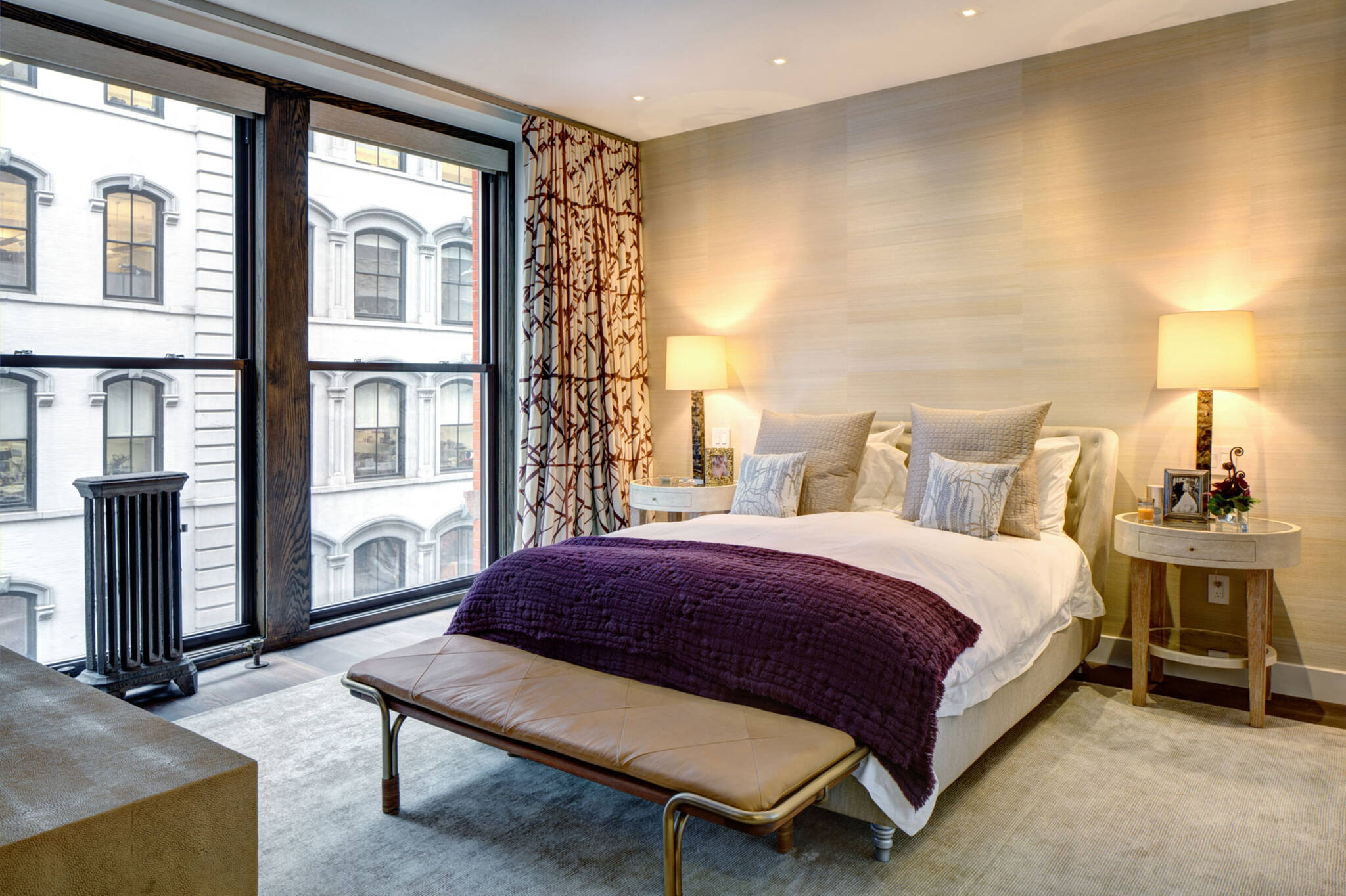 Master bedroom of the loft renovation project in Union Square, New York City designed by the architecture studio Danny Forster & Architecture