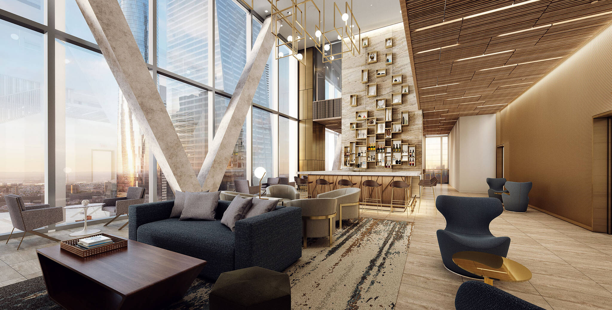 Hudson Yards Autograph Hotel project by Marriott is a modular hotel tower located at 432 West 31st Street in Hudson Yards, New York City designed by the architecture studio Danny Forster & Architecture