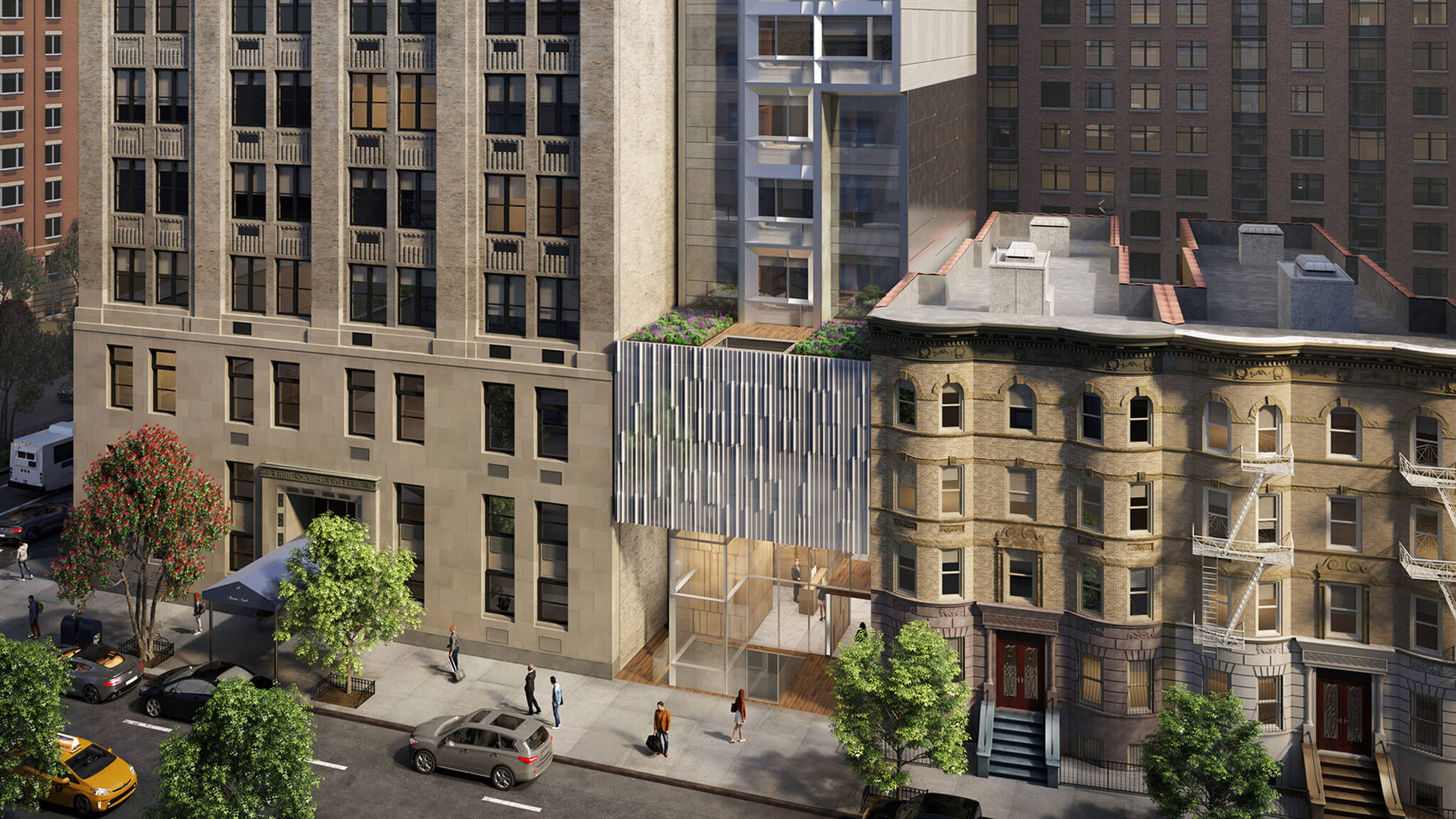 Brooklyn Motto Hotel project on Schermerhorn Street in Brooklyn, New York designed by the architecture studio Danny Forster & Architecture